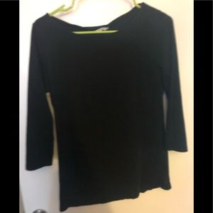 H and M Pima Cotton 3/4 Sleeve Tee Size L